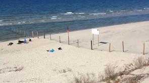 Plaża na granicy