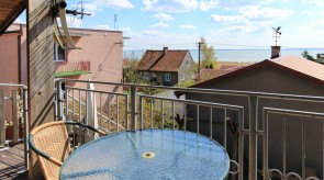 Pokój Ewelci - balkon z widokiem na Zalew Wiślany